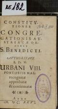 CONSTITVTIONES CONGREGATIONIS AVSTRIACAE ORDINIS S. BENEDICTI  (odkaz v elektronickém katalogu)