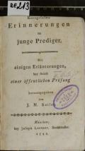 Kurzgefasste Erinnerungen an junge Prediger  (odkaz v elektronickém katalogu)