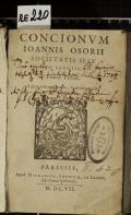 CONCIONVM IOANNIS OSORII SOCIETATIS IESV DE SANCTIS, Tomus Tertius (odkaz v elektronickém katalogu)