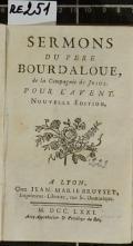 SERMONS DU PERE BOURDALOUE, de la Compagnie de JESUS : POUR L'AVENT (odkaz v elektronickém katalogu)