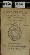 CONSTITVTIONES ET DECLARATIONES EXAMINIS GENERALIS SOCIETATIS IESV (odkaz v elektronickém katalogu)