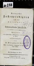 Dreyzehn Fastenpredigten nach dem Leitfaden der Leidensgeschichte Jesu Christi  (odkaz v elektronickém katalogu)