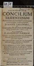 SACROSANCTUM CONCILIUM TRIDENTINUM  (odkaz v elektronickém katalogu)