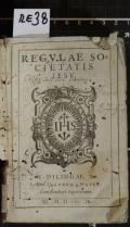 REGVLAE SOCIETATIS IESV (odkaz v elektronickém katalogu)