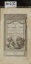 Gott ist die reinste Liebe : Mein Gebeth und meine Betrachtung  (odkaz v elektronickém katalogu)