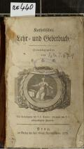 Katholisches Lehr- und Gebetbuch  (odkaz v elektronickém katalogu)