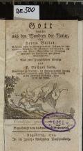 Gott bewiesen aus den Wundern der Natur  (odkaz v elektronickém katalogu)