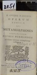 P. OVIDII NASONIS OPERUM TOMUS II. QUI METAMORPHOSES COMPLECTITUR  (odkaz v elektronickém katalogu)