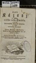 Krátká Kázanj na wssechny celého roku Swátky. Djl prvnj  (odkaz v elektronickém katalogu)