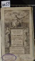 IANI NICII ERYTHRAEI EXEMPLA VIRTUTUM et VITIORUM (odkaz v elektronickém katalogu)