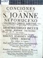 Conciones de s. Joanne Nepomuceno
